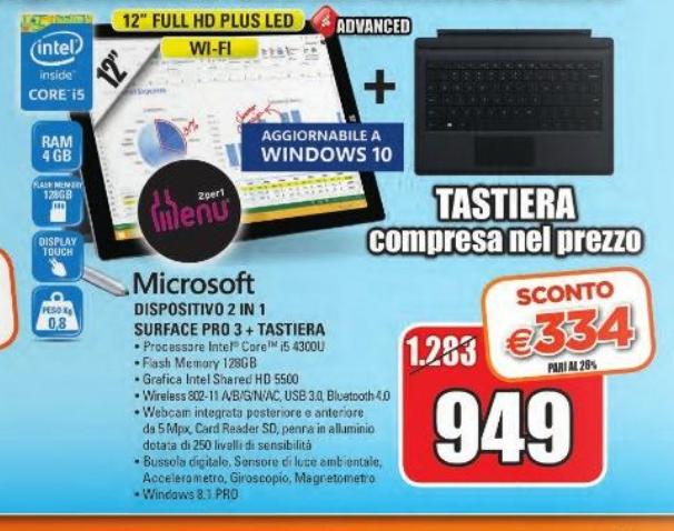Offerta Surface Pro 3