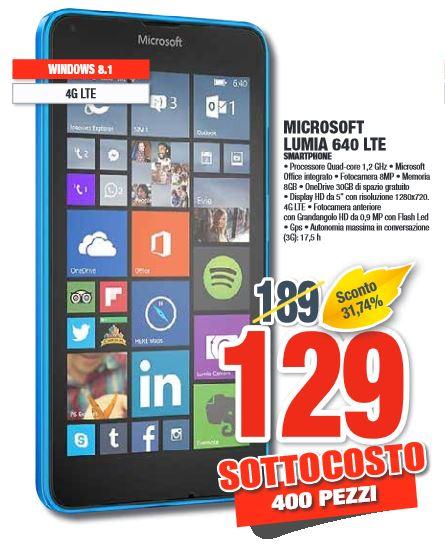 Lumia 640 LTE in offerta da Comet