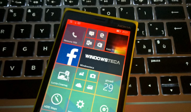 Build 10581 di Windows 10 Mobile Preview