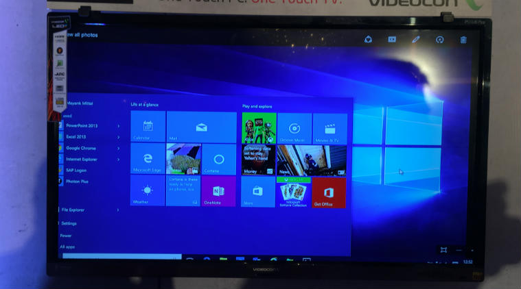 Videocon TV con Windows 10