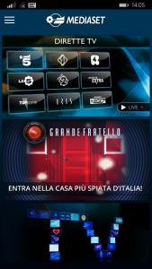 Mediaset per Windows Phone