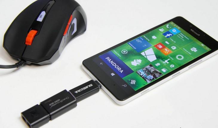 Lumia 950 e USB OTG