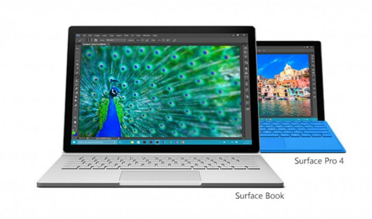 Surface Pro 4 e Surface Book