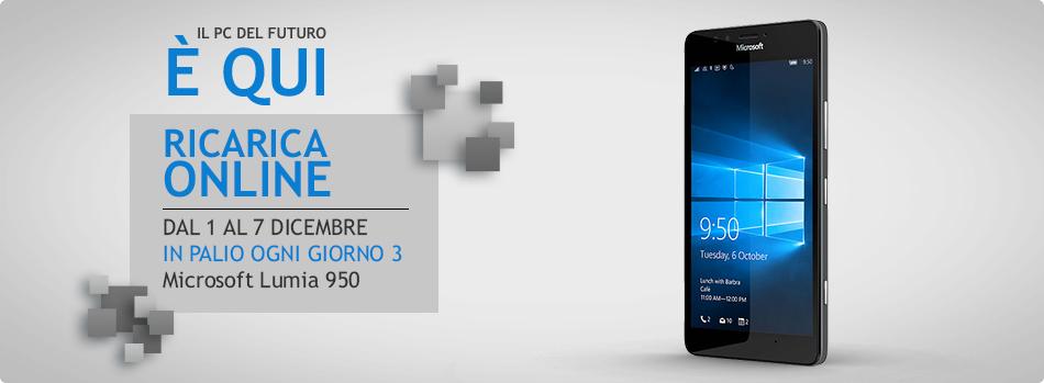 Ricarica Online e Vinci Microsoft Lumia 950