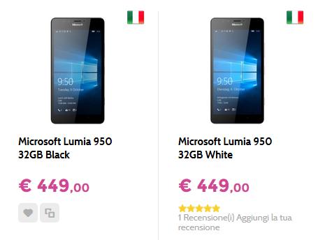 Microsoft Lumia 950 a 449 Euro