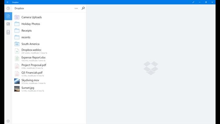 Dropbox, il cloud storage nella sandbox di Windows 10