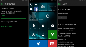 Microsoft sta testando internamente la Build 10586.122 di Windows 10 Mobile