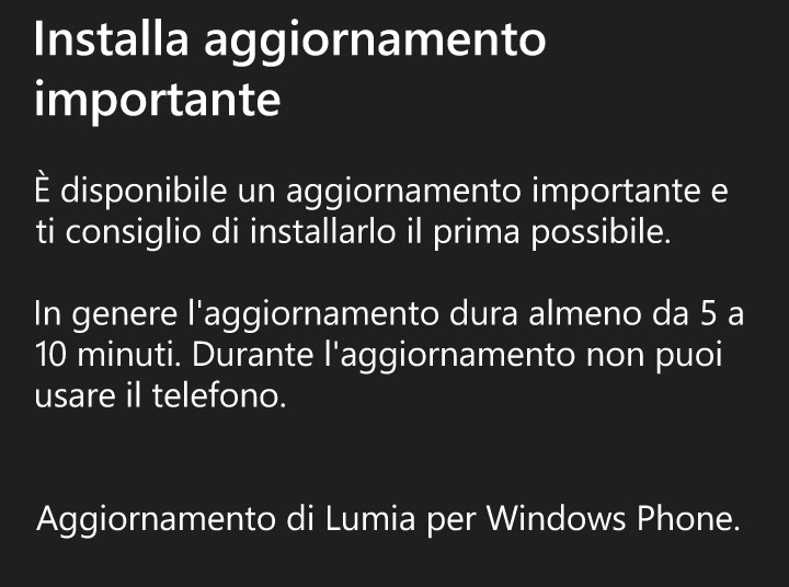 Update per Lumia 640 LTE