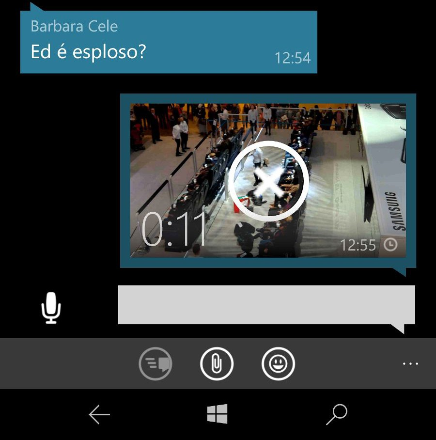 Stato di invio video su WhatsApp Beta WhatsApp Beta