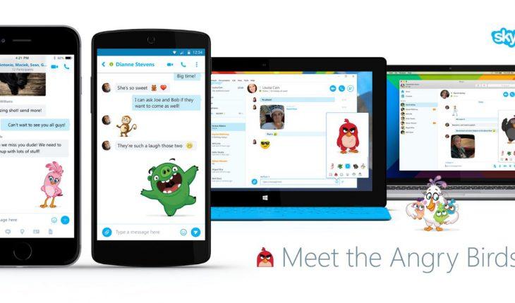 Moji di Angry Birds su Skype