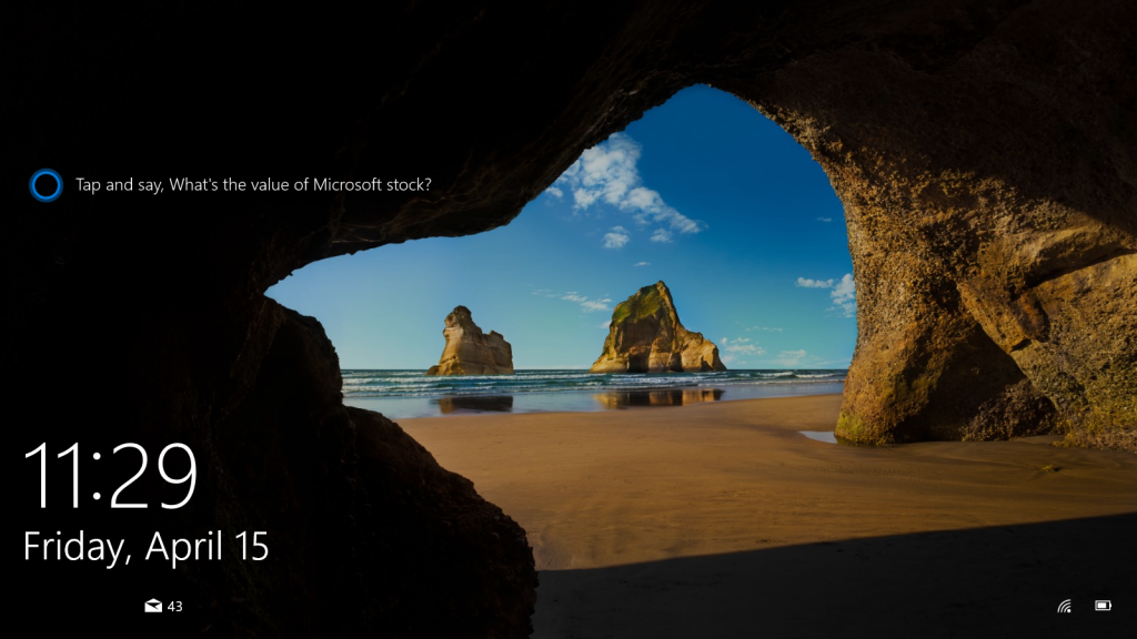 Cortana su Lockscreen