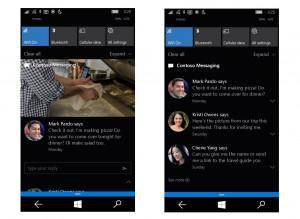 Notifiche Windows 10 Mobile