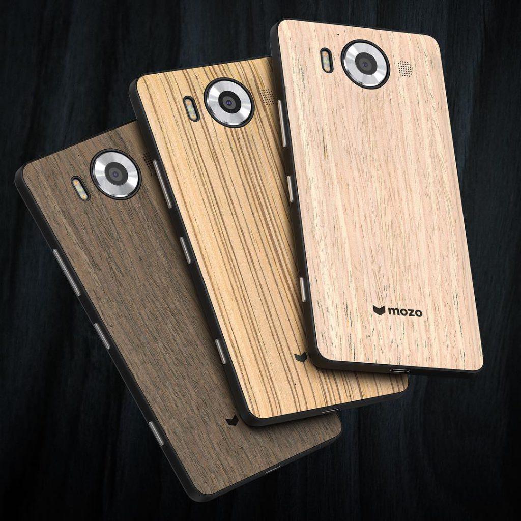 back-cover in legno per i Lumia 950 e 950 XL