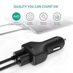 AUKEY caricabatteria per auto con 2 porte USB e tecnologia AiPower