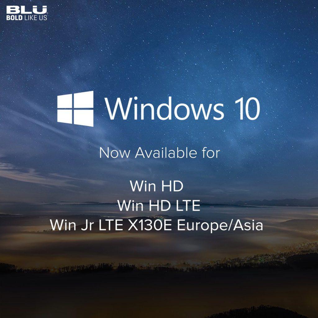 Windows 10 Mobile sui device BLU