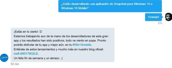 Lumia Soporte su Snapchat