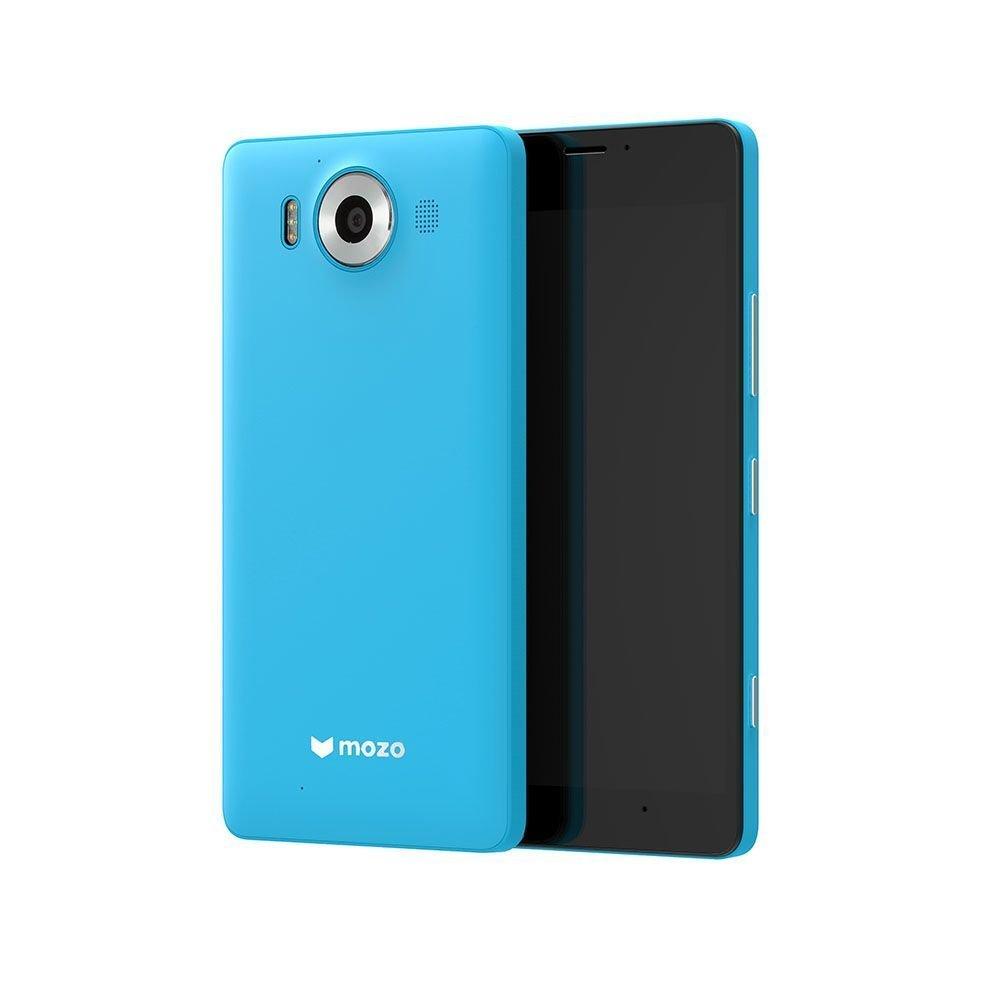 Custodia Mozo in policarbonato (colore ciano) per Lumia 950