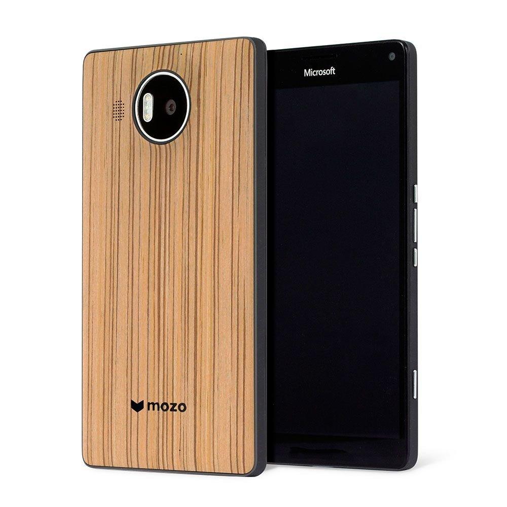 Custodia Mozo in legno (zebrato) per Lumia 950 XL