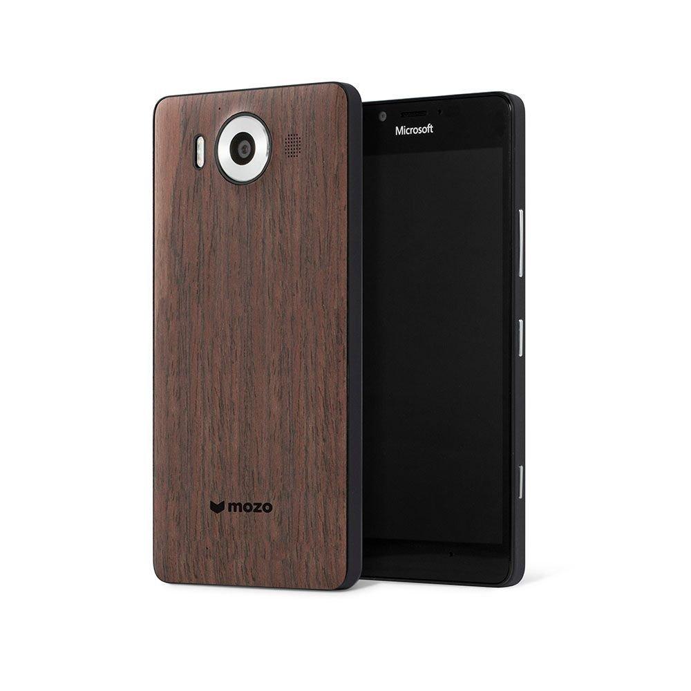 Custodia Mozo in legno (ciliegio) per Lumia 950