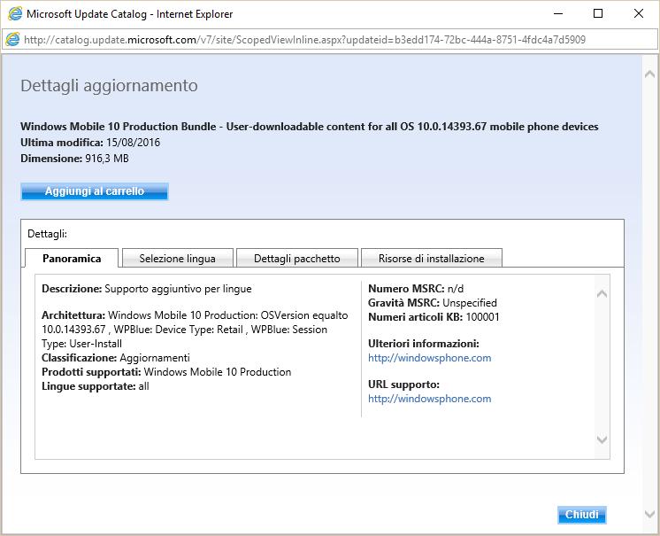 Microsoft Windows 10 Anniversary Update arriva anche sugli smartphone