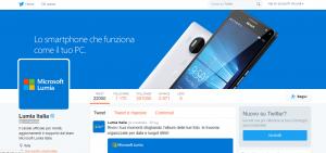 Microsoft Lumia su Twitter