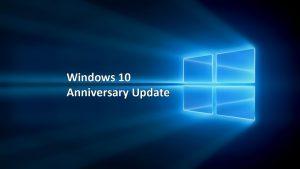 Anniversary Update di Windows 10