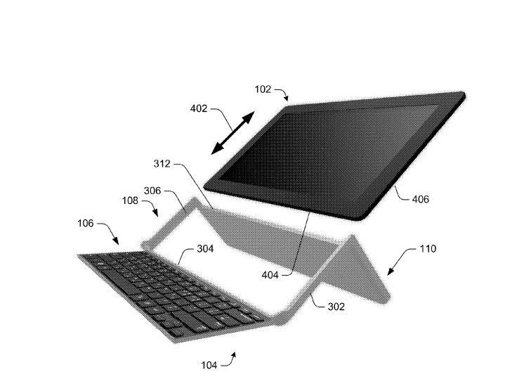 Microsoft brevetta una cover-tastiera pieghevole per tablet che funge anche da cavalletto