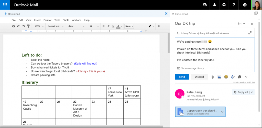 Outlook - Google Drive
