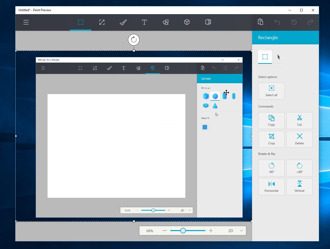Microsoft Paint Windows 10, arriva la possibilità del disegno in 3D