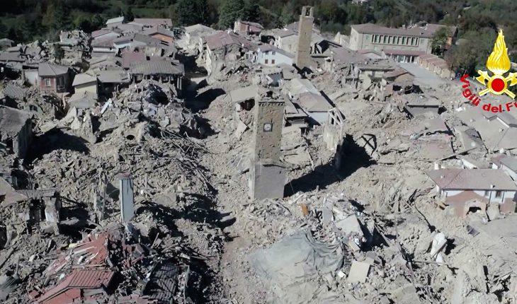 Amatrice devastata dal terremoto