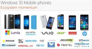 Windows 10 Mobile Momentum