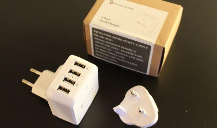 Syncwire Caricatore USB da viaggio