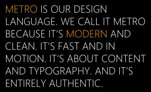 Metro Desing Language