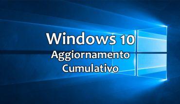 Windows 10 - Aggiornamento Cumulativo