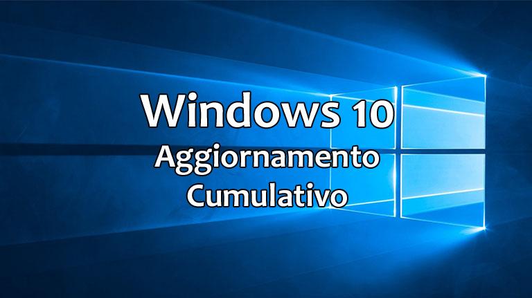 Windows 10, l'aggiornamento cumulativo (KB4343909) di agosto 2018 è in distribuzione su PC e smartphone