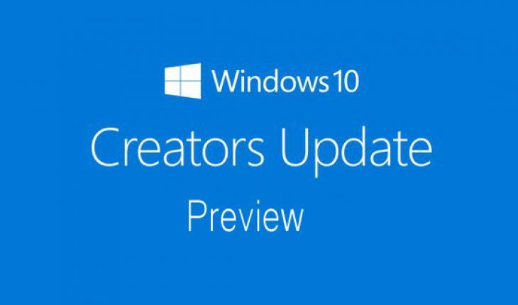 Windows 10 Creators Update Preview