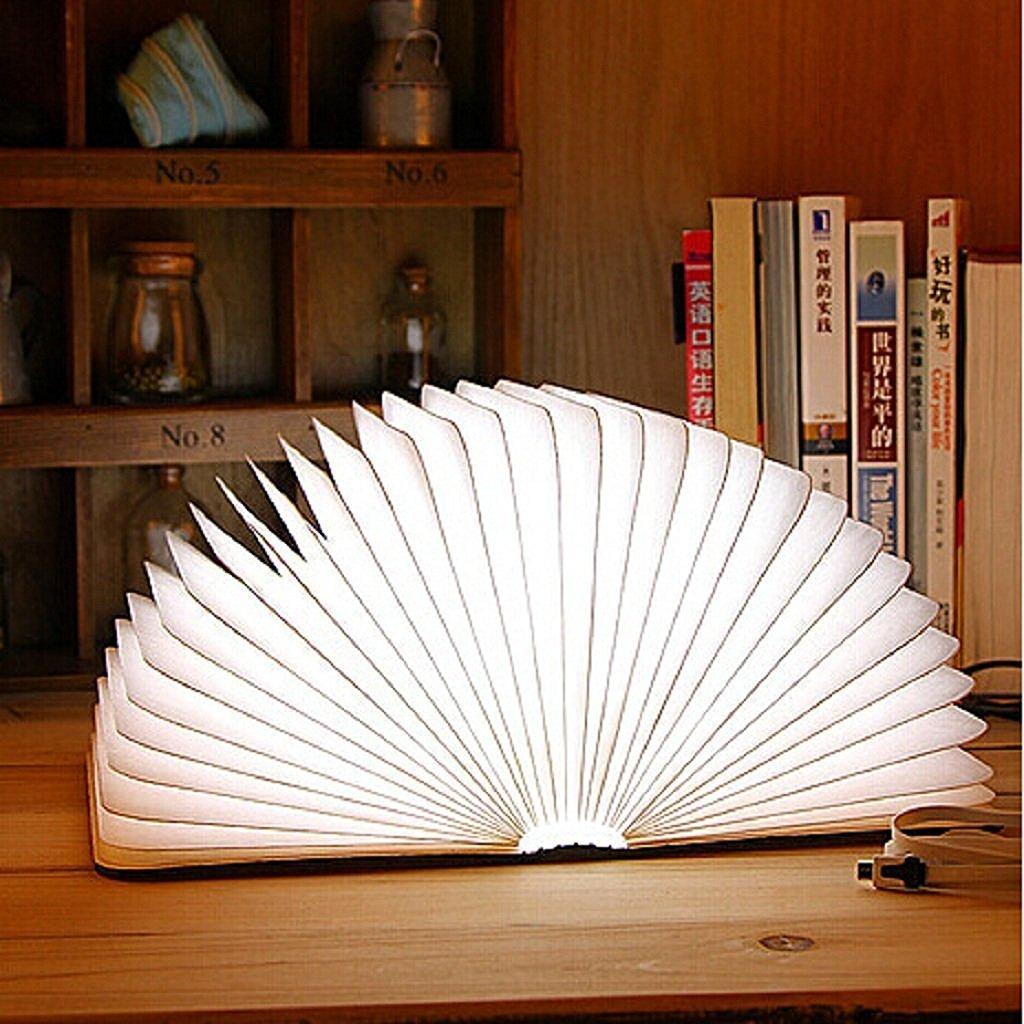 Lampada da tavolo a forma di libro