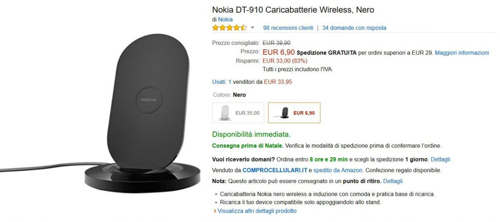 Offerta Amazon Nokia DT-910
