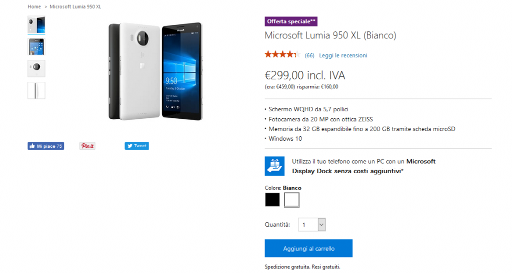 Offerta Microsoft Store: