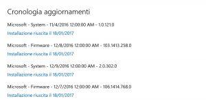 Firmware update per Surface Pro 4