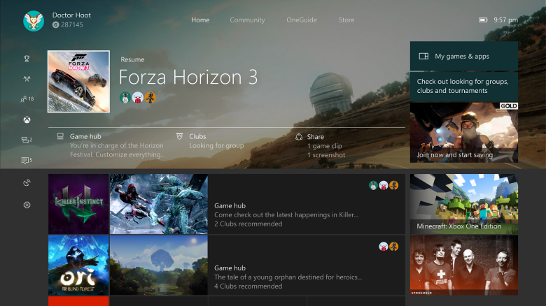 Xbox One - Home