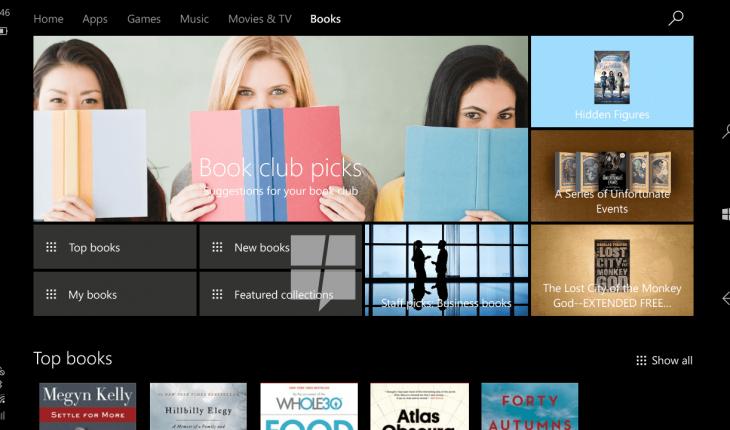 Windows Store - Sezione Libri