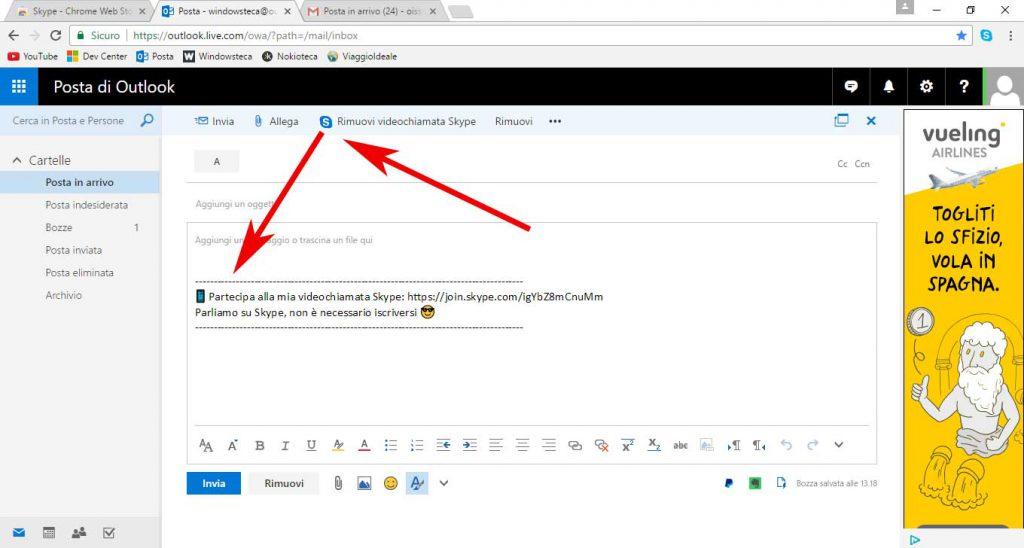 Estensione Skype per Chrome