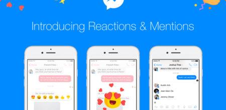 Reazioni e Menzioni su Messenger