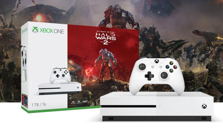 Xbox One S 1TB + Halo Wars 2