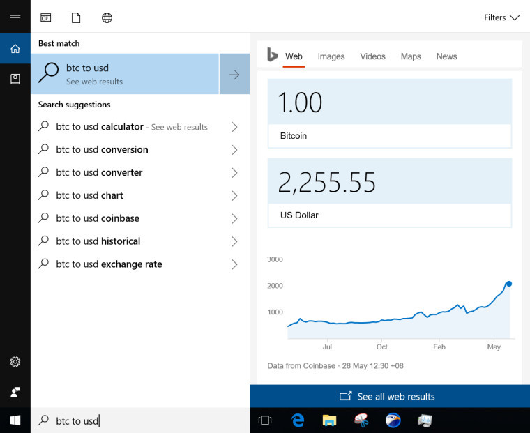 Cortana nuova interfaccia