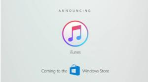 iTunes nel Windows Store