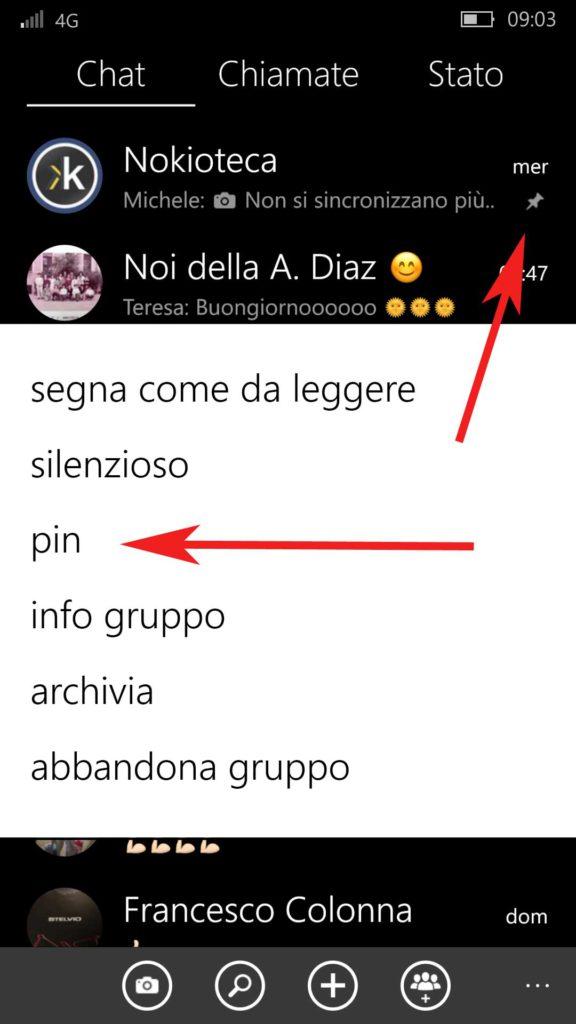 WhatsApp - Ancoraggio