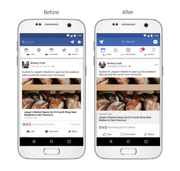 Facebook - Novità feed