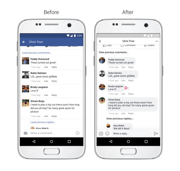 Facebook - Novità commenti